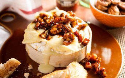 Dr-Trouble-Baked-Camembert-with-Smoked-Chilli-Pancetta-and-Pecans-with-hot-sauce-bottle